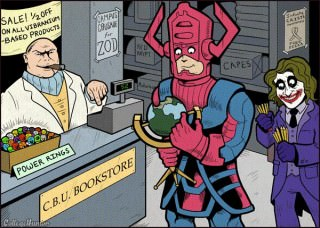 galactus looks hungry...also infinite crisis awareness...LOL!