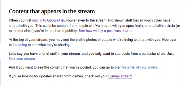 Google+ Gaming Future Outed by Help Document