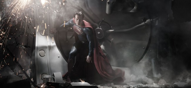 First look at Cavill as Superman, IN COSTUME.. .It still isn't right