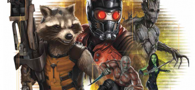 Look, some Guardians of The Galaxy merchandise and artwork.