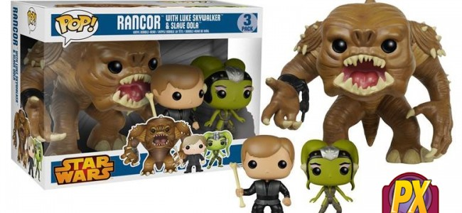SHUT UP AND TAKE MY MONEY ALREADY: Pop! Star Wars Figures 3-pack: Rancor with Luke & Slave Oola