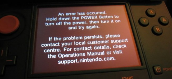 Your Nintendo 3DS May Suffer A From Black Screen of Death